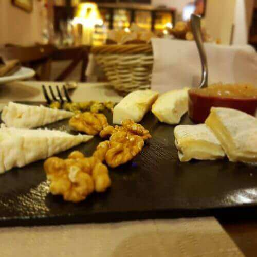 Platter of cheese