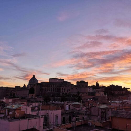 The Vatican with a stunning Sunset in Rome
