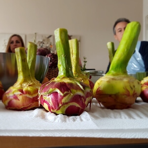 Eating Artichokes in Rome