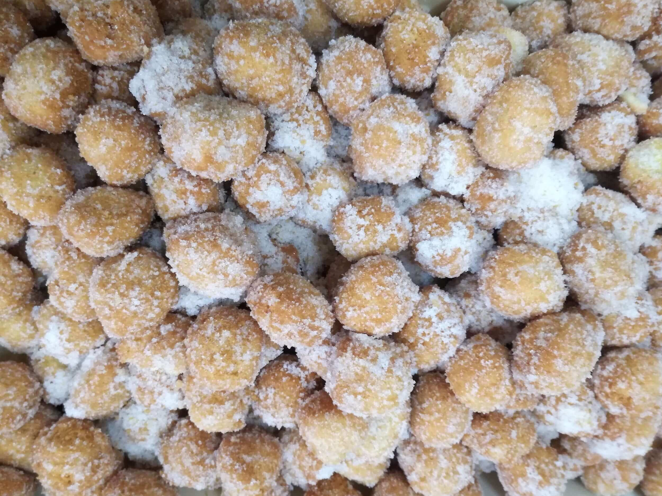 typical carnival fritters in Italy