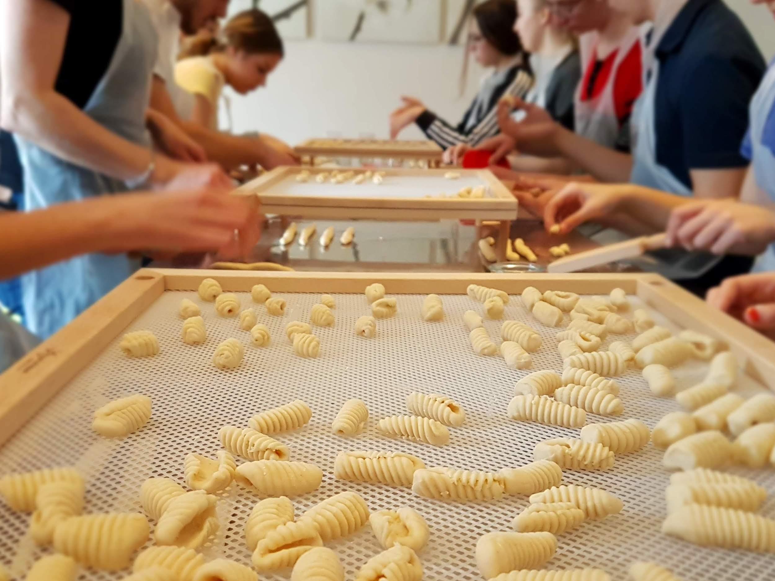 Gnocchi on a drying board