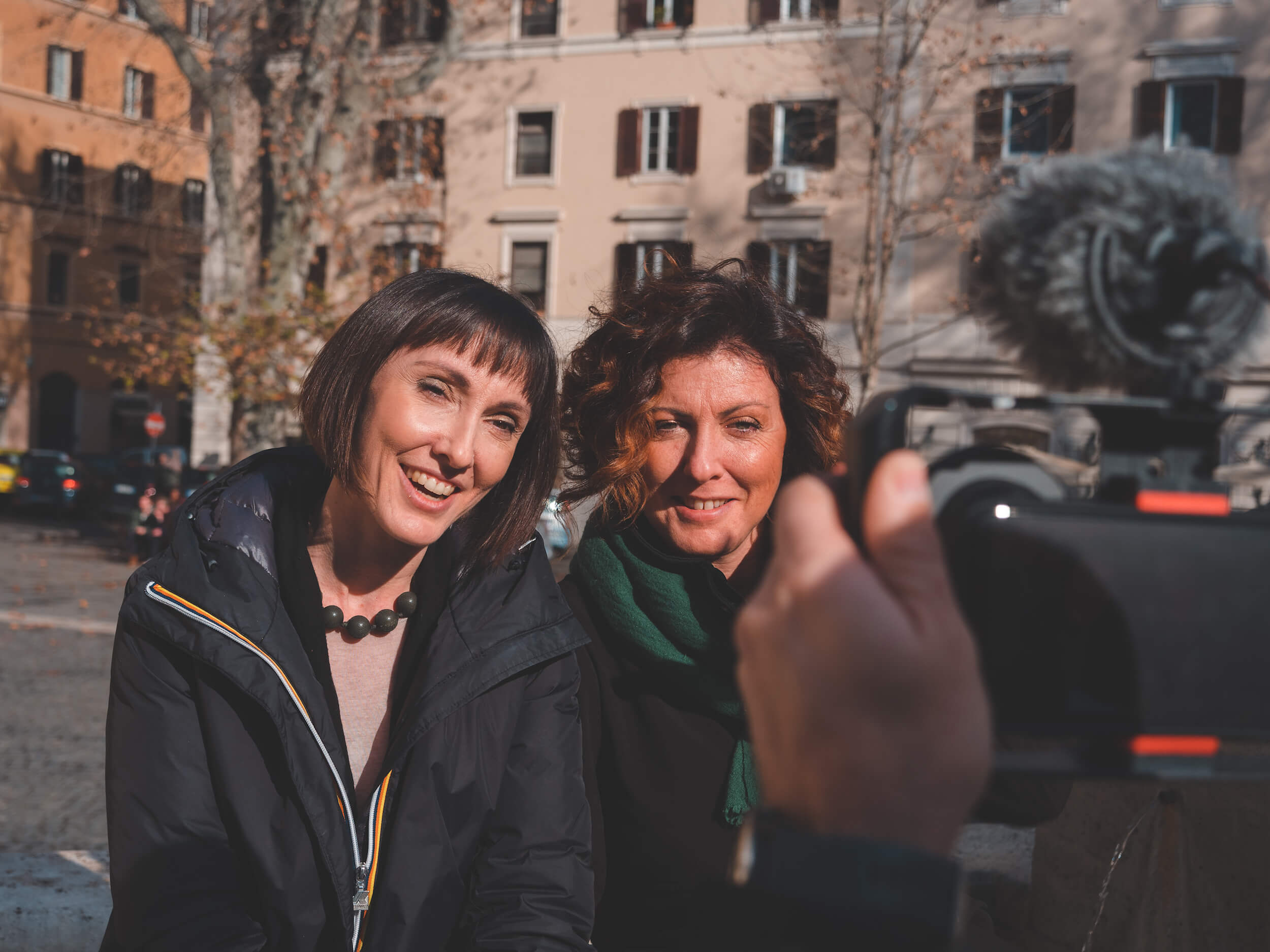 Valeria and Benedetta, the Foodie Sisters in Italy, during the shooting