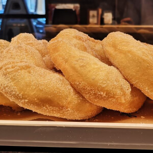 Traditional Italian Fried Doughnuts for Breakfast