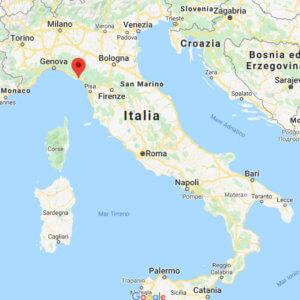 Tellaro Italy on a map