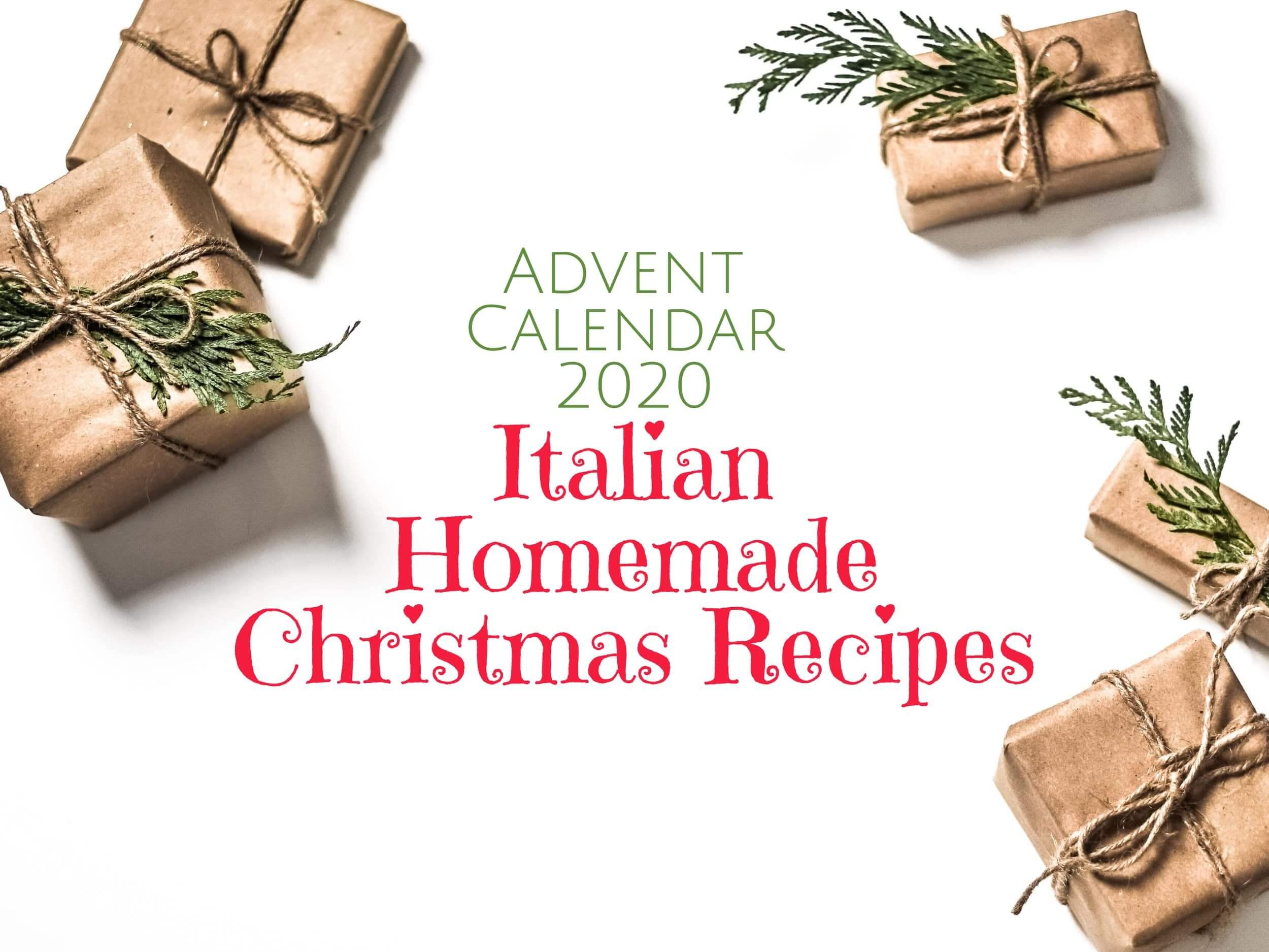 Italian Homemade Christmas Recipes Advent Calendar