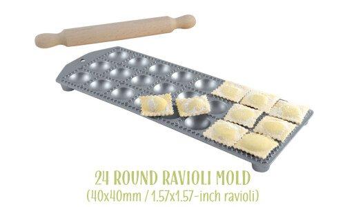 24 round ravioli mold