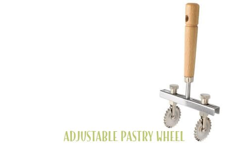 Adjustable pastry wheel