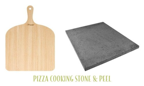 Pizza cooking stone and peel