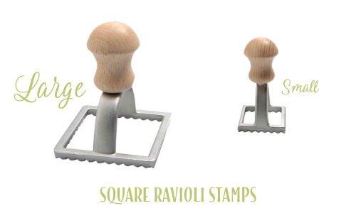 Square ravioli stamps