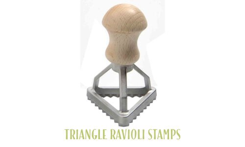 Triangle ravioli stamps