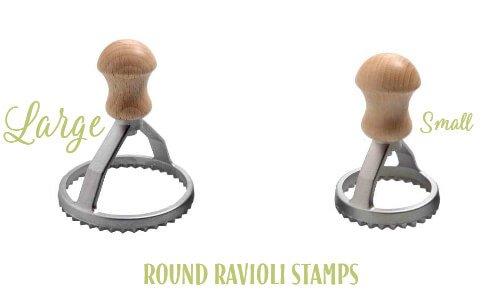 Round ravioli stamp